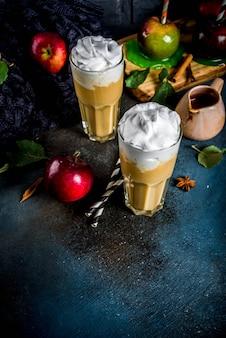 Smoothie van gekruide karamelappel of appeltaart