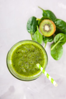 Smoothies groen. drink cocktail