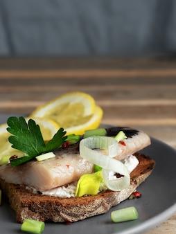 Smorrebrod sandwiches (haring sandwich)