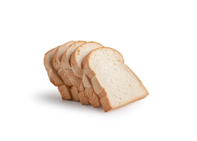 Sneetje brood geïsoleerd