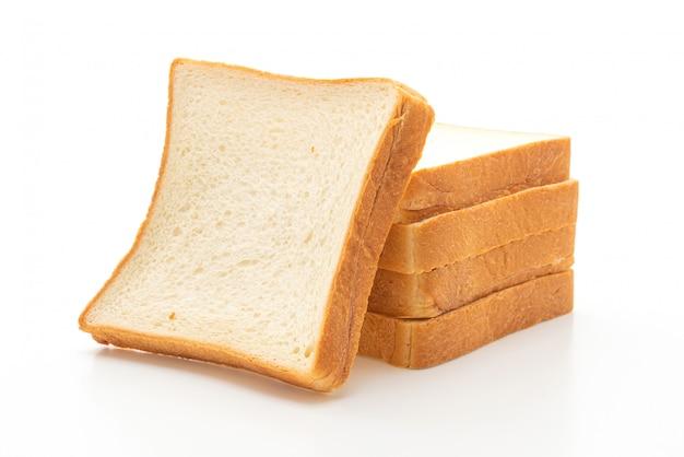 Sneetjes brood op wit