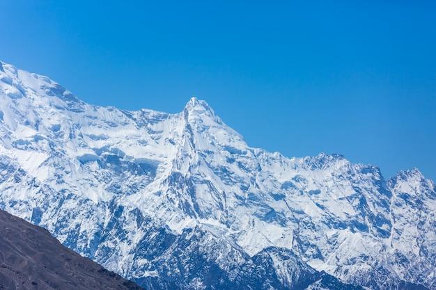Sneeuwbergpiek in pakistan