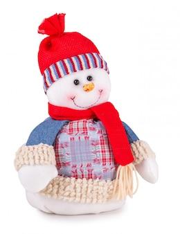 Sneeuwpop geïsoleerd op een witte achtergrond