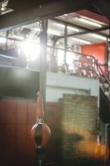 Snelheid boksen bal in fitness-studio
