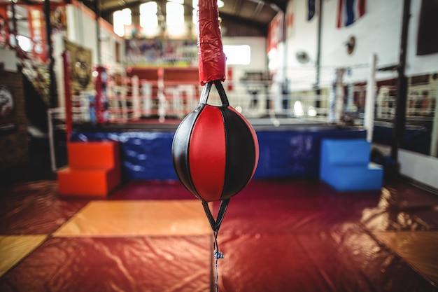 Snelheid boksen bal in fitnessclub