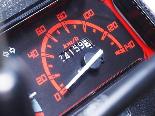 Snelheid dashboard van motorfiets