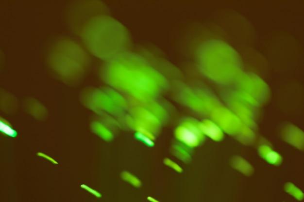 Snelle beweging van groene lichten