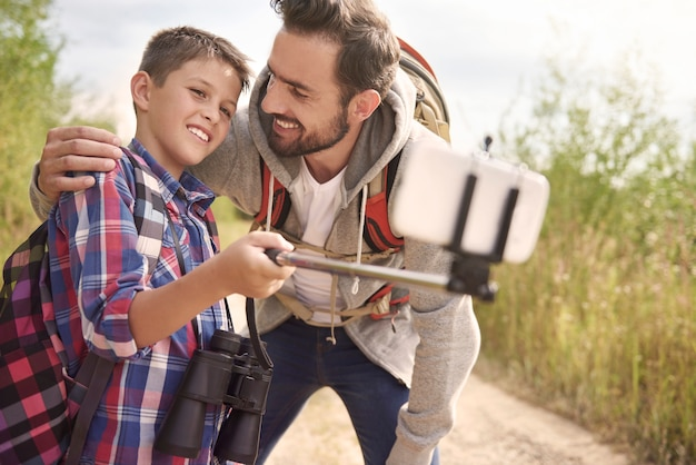 Snelle selfie en we kunnen verder gaan