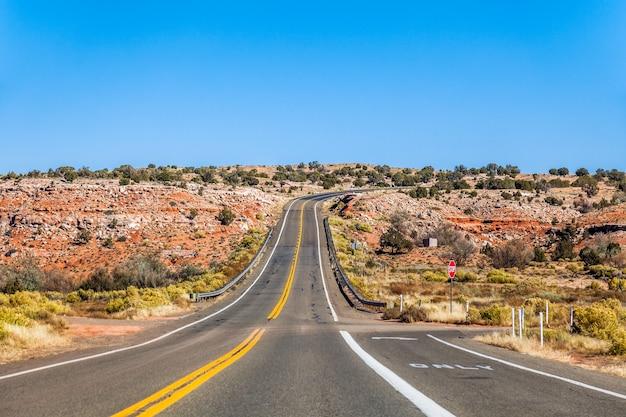 Snelweg weg arizona usa