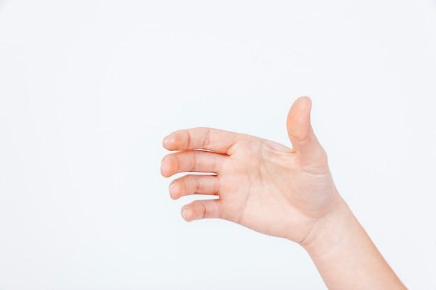 Snijd de hand met problemen met de gewrichten