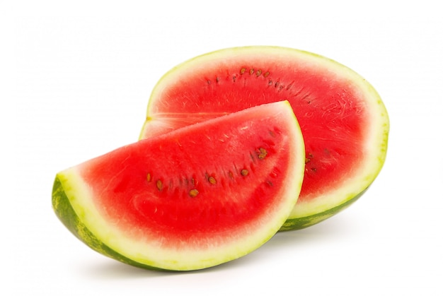 Snijd verse watermeloen