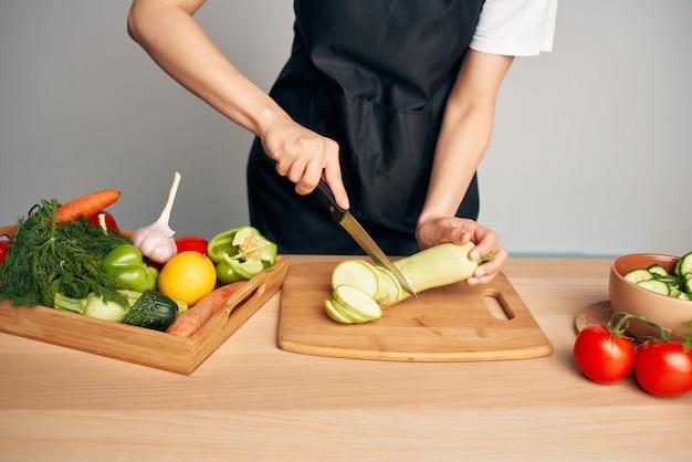 Snijden groenten groenten gezond eten levensstijl