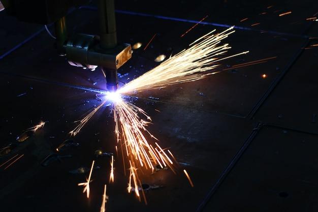 Snijden metalen laser close-up
