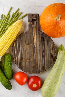 Snijplank met groenten