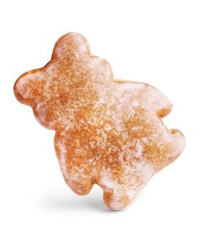 Snoepjes in de vorm van teddyberen met gecondenseerde melk geïsoleerd