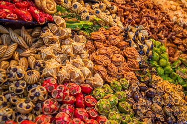 Snoepjes op de marokkaanse markt
