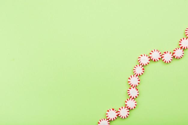 Snoepjes uitgelijnd op spiraalvorm