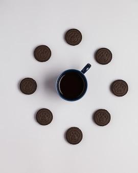 Snoepjes voor thee en koffie, marshmallowkoekjes
