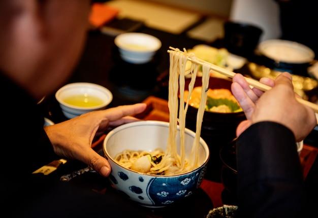 Soba-noedel, japans voedsel