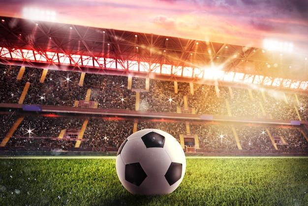 Soccerball in het stadion