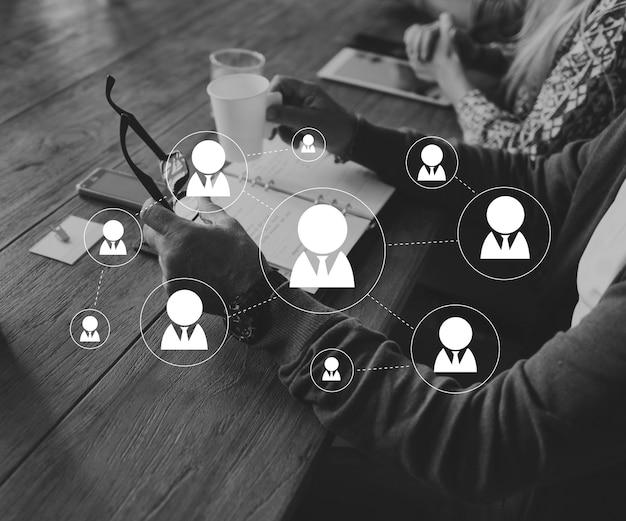 Sociaal netwerk verbinding avatar icon vector