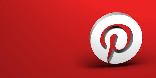 Social media 3d logo renderen