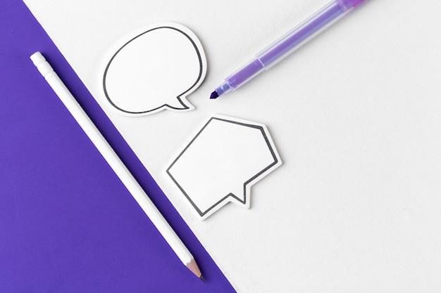 Social media chat. lege lege praatjebel voor tekst