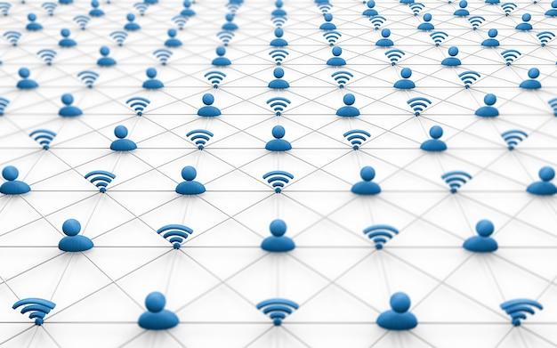 Social media concept, netwerken, zakelijke connecties, social media concept