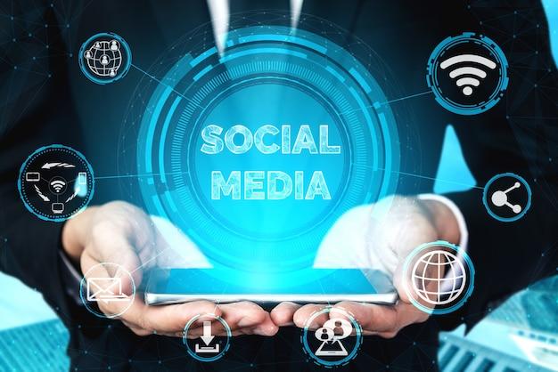 Social media en mensen netwerk technologie concept