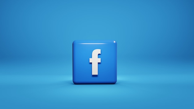 Social media facebook logo 3d-afbeelding