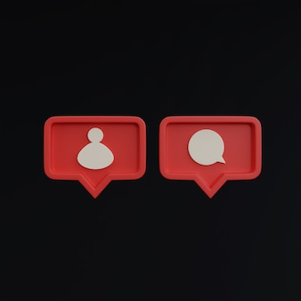 Social media iconen op zwarte achtergrond