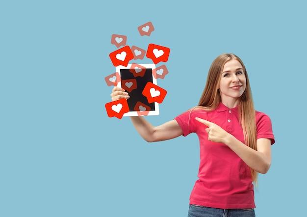 Social media interacties op mobiele telefoon