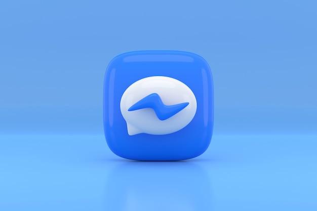 Social media pictogram ontwerp. 3d-weergave. Premium Foto