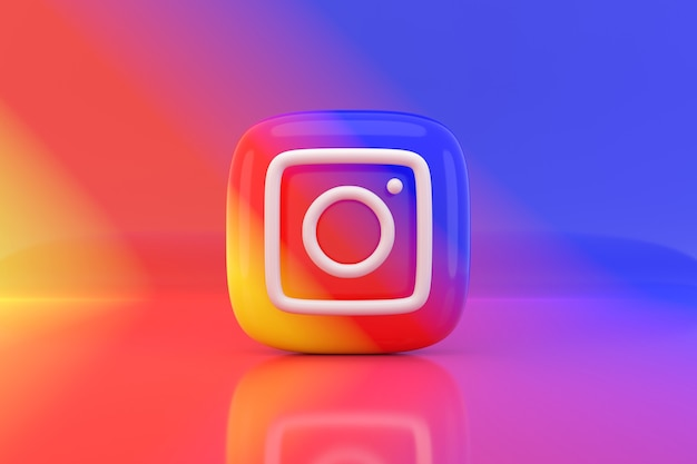 Social media pictogram ontwerp. 3d-weergave.