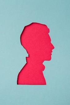 Social media stilleven met de vorm van een man