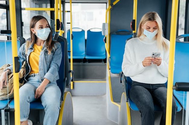 Sociale afstand nemen in het openbaar vervoer