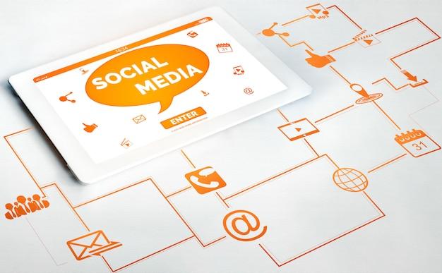 Sociale media en mensen netwerktechnologie concept