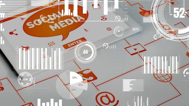 Sociale media en mensen netwerktechnologie conceptueel
