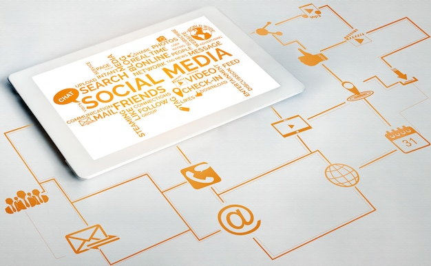 Sociale media en mensen netwerktechnologie