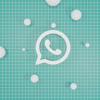 Sociale media logo 3d-rendering