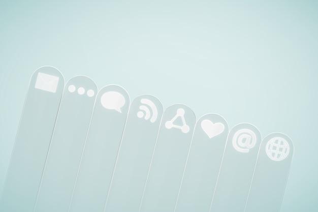 Sociale media pictogram op lichte achtergrond