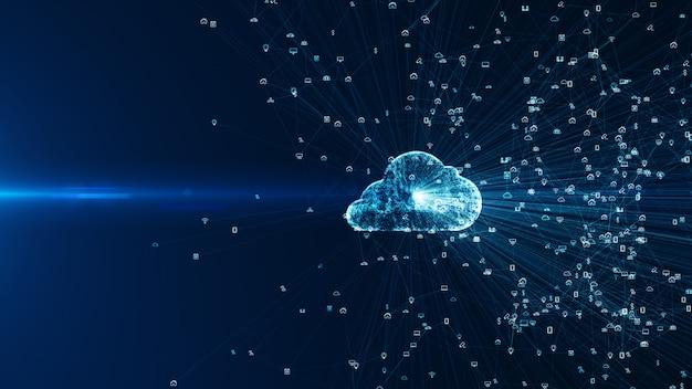 Sociale netwerkverbindingen en informatietechnologie van het internet der dingen iot big data cloud computing.