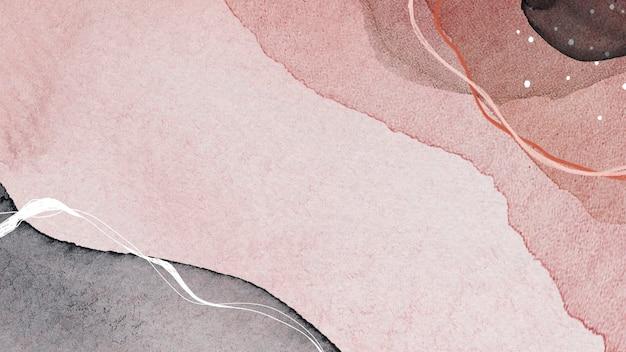 Sociale sjabloon met abstracte patronen in aardetinten