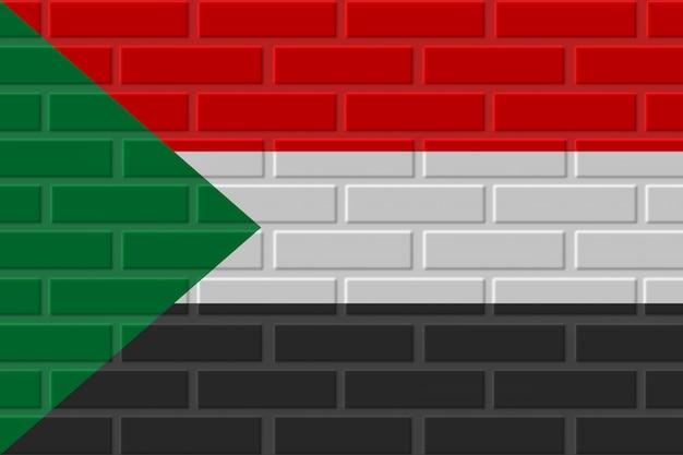 Soedan baksteen vlag illustratie