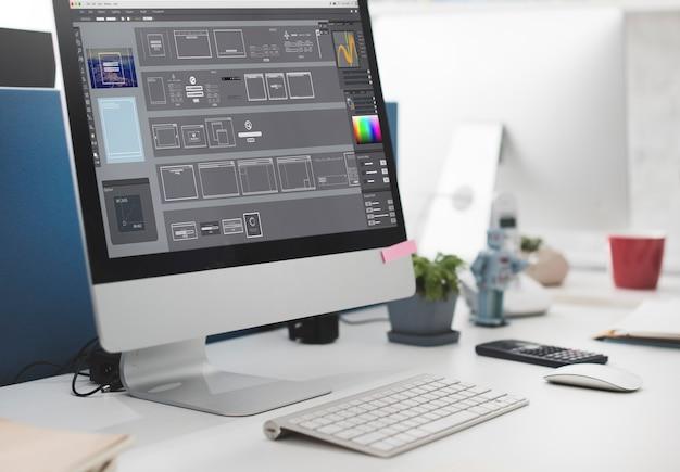 Softwaresjablonen bewerken grafisch ontwerpconcept
