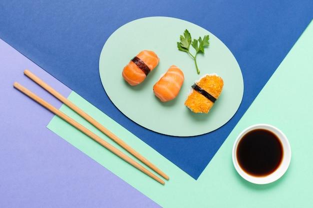 Sojasaus besde sushi rolt