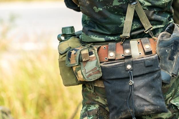 Soldaat klaar voor oorlogsgevecht