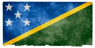 Solomon eilanden grunge vlag