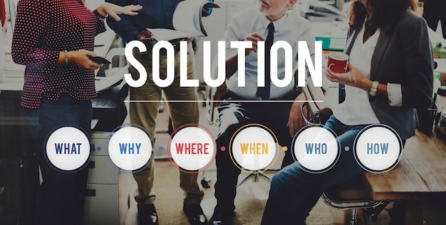 Solution question system probleemoplossend concept