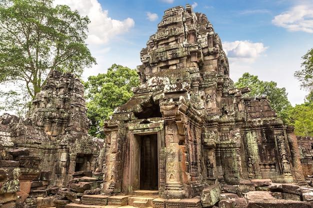 Som van ta-tempel in angkor wat in siem oogst
